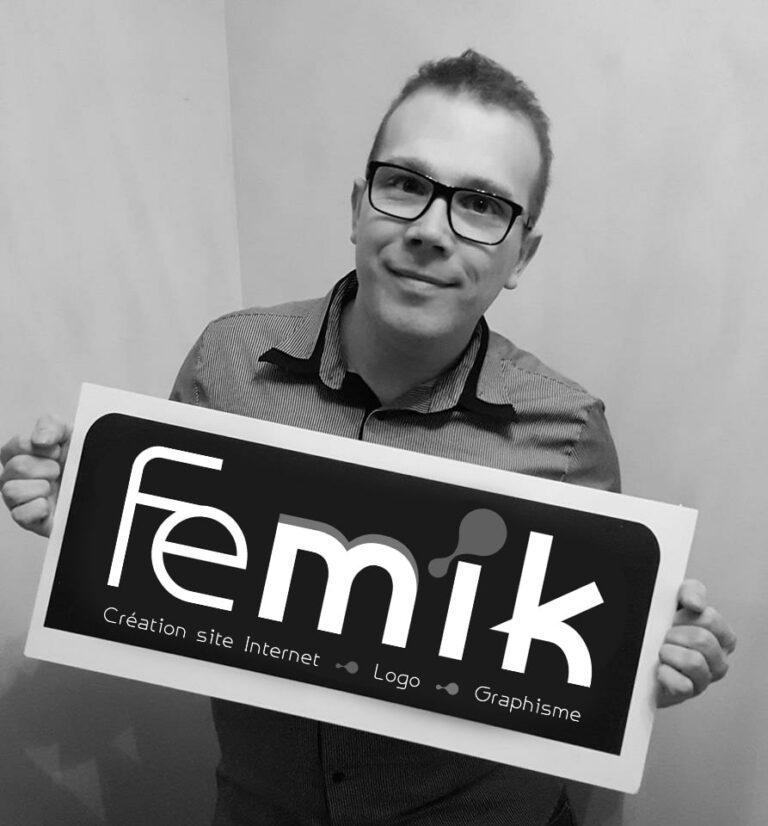Mikael de FEMIK - Freelance en création de site Internet, logo et graphisme