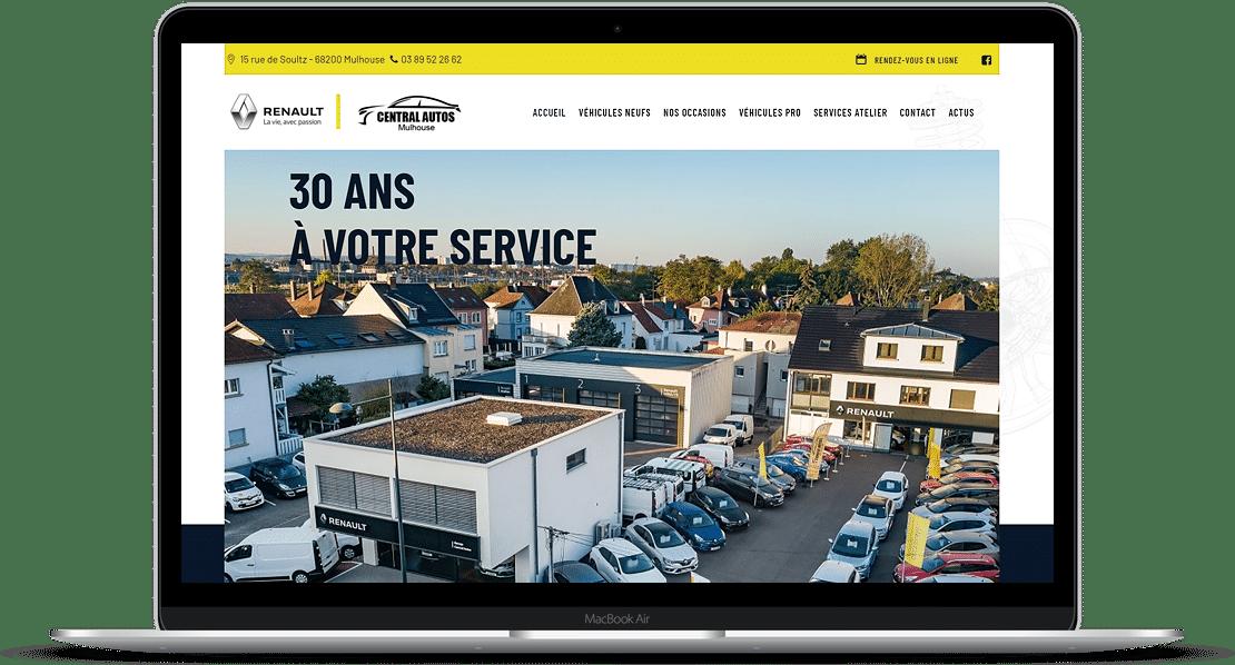 création site vitrine garage central autos Mulhouse - 68 FEMIK