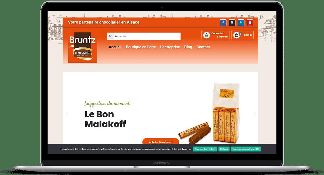realisation site e-commerce de vente chocolat chocolaterie bruntz kingersheim 68 - FEMIK