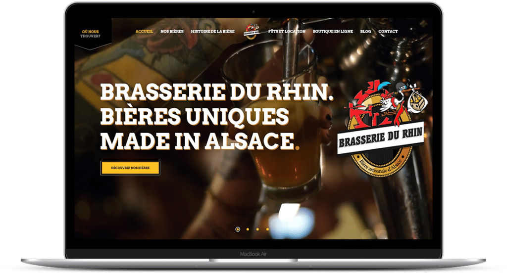réalisation site vitrine biere du rhin morschwiller 68 - FEMIK