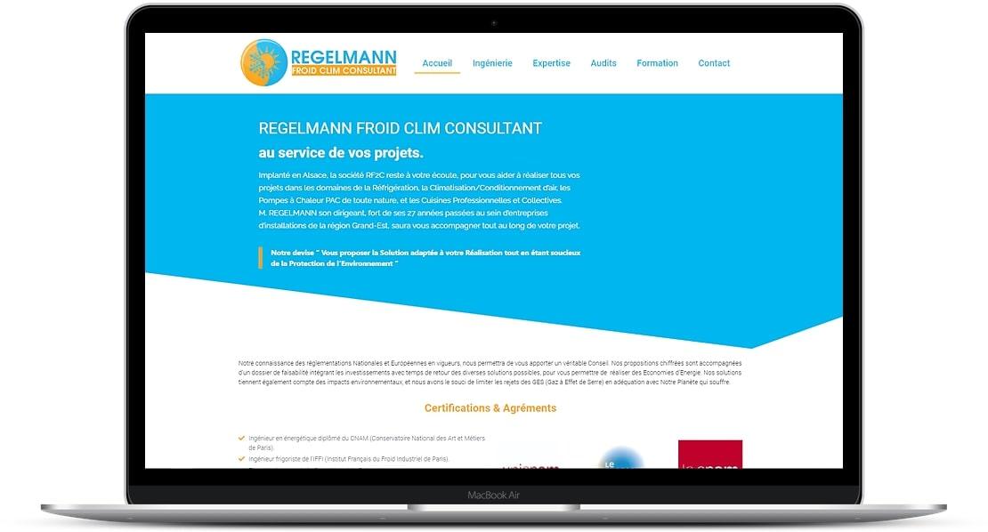 Création site Internet par FEMIK pour bureau d'étude Regelmann à Riedisheim (68)