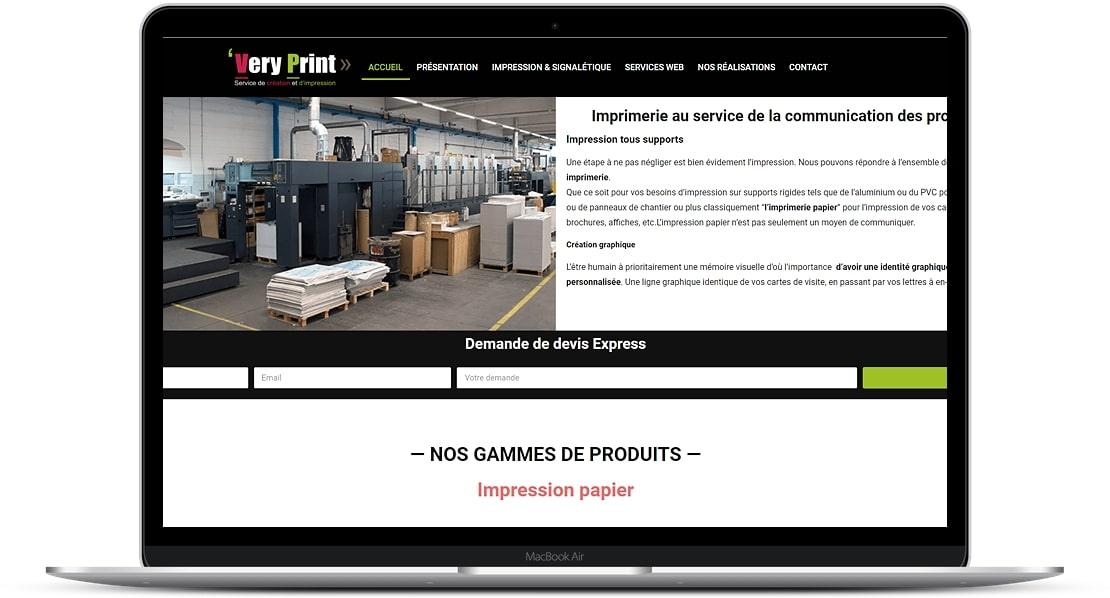 Refonte du site internet de l'imprimerie VERY PRINT 68