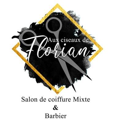 Creation logo Aux Ciseaux de Florian 68 Morschwiller-le-Bas près de Mulhouse