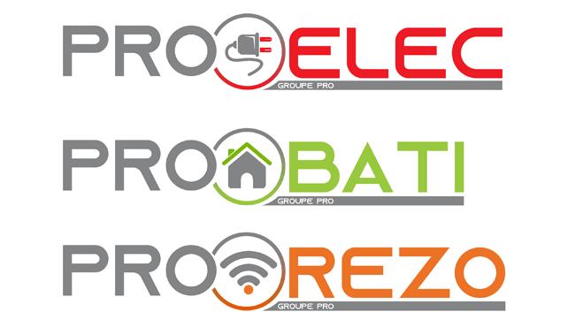 Création de 3 logos pour le groupe PRO à Illzach